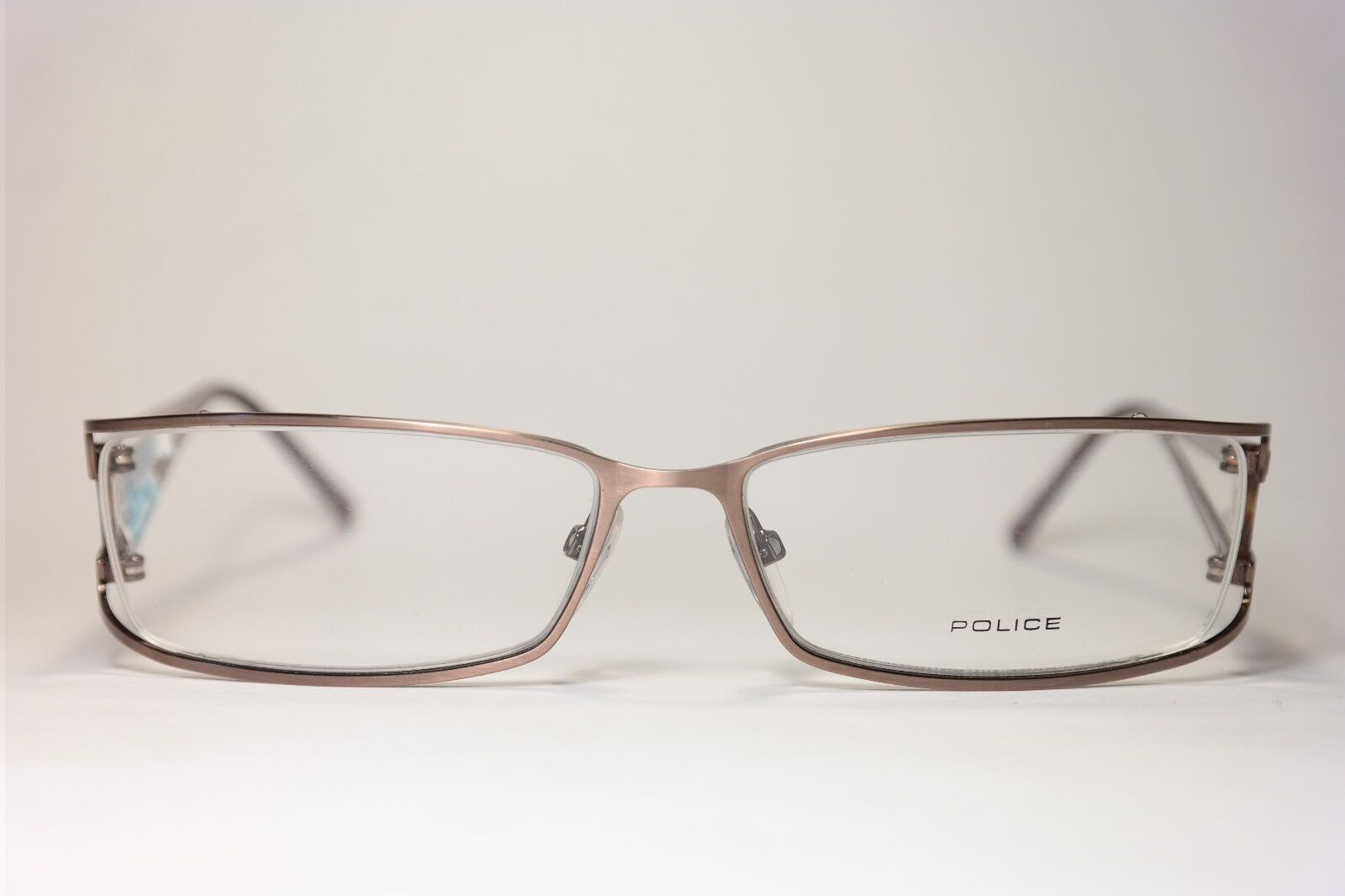 Police V8068 Col. SD3  55[]15 135 Rot Silber oval Brillengestell Brille NEU