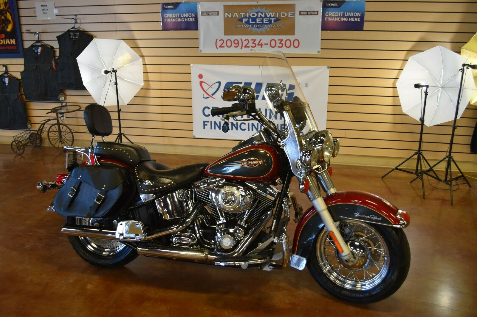 2007 Harley Davidson Heritage Softail Classic FLSTC Clean Title NO RESERVE