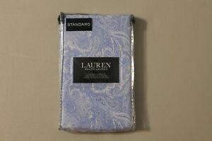 Ralph Lauren Blue Paisley 2 Standard Pillowcases 100% Cotton Girl French Cottage
