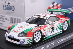 EBBRO 43231 1:43 TOYOTA CASTROL TOM'S SUPRA JGTC 2001 DIE CAST MODEL RACING CAR