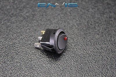 Round On Off Rocker Switch Mini Toggle Red Led 34 Mount Hole Ec-1103ard