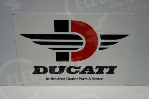 """DUCATI AUTHORIZED DEALER PARTS & SERVICE DEALERSHIP SIGN. 12"""" X 18"""""""