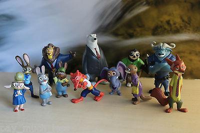 Newest  12Pcs Zootopia Judy Hopps Nick Wilde Movie Action Figures