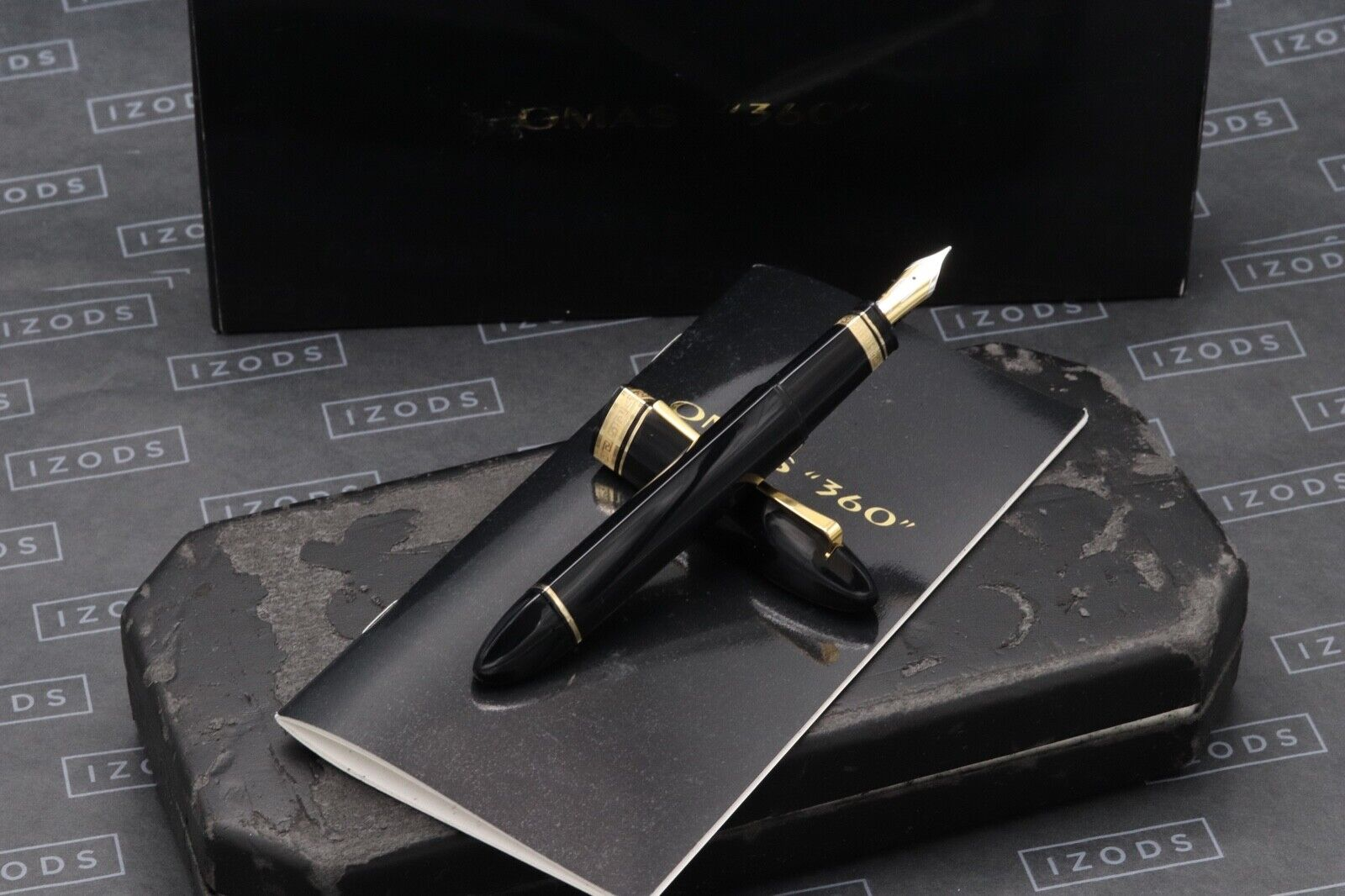 Omas 360 Magnum Black Gold Trim Fountain Pen