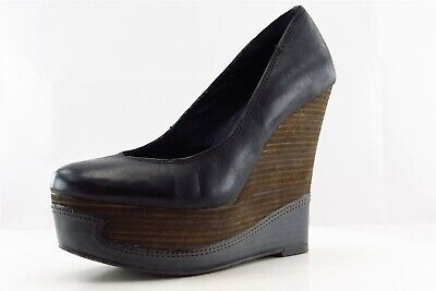 Calvin Klein Jeans Wedge Blue Synthetic Women Shoes Size 8.5 Medium (B, M)