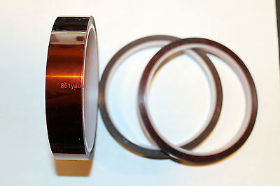 "25 mm x 33 m Gold Kapton-Tape Polyimide High Temp 1"" x 36yds 25mm; US stock"