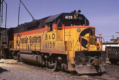 B&O CHESSIE GP40-2 4139  Original Slide