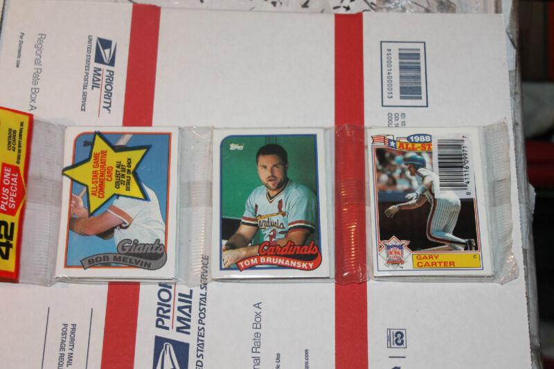 1989 Topps Rack  Baseball Packs!! Vintage Unopened Lot.