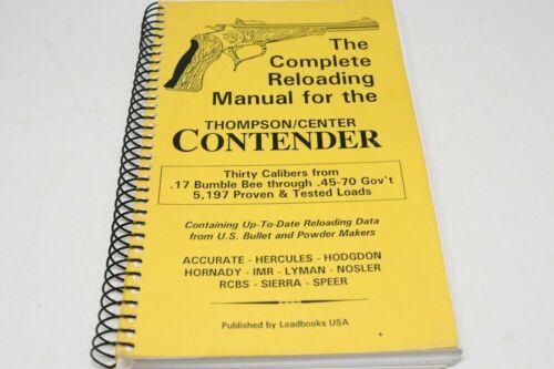 Original 1991 Complete Reloading Manual for the Thompson Center Contender