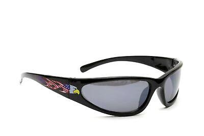 American Eagle Designer Fashion Black Plastic Frame Wrap-Around Men Sunglasses