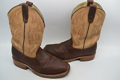 Mens Double H 9.5 D  Bison Square Steel Toe ICE Roper Work WESTERN Boot DH5305