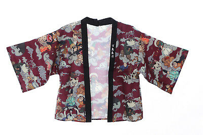 KJ-05-2 rot Night Parade of 100 Demons Ghost Tales Haori Über-Jacke Japan Kimono