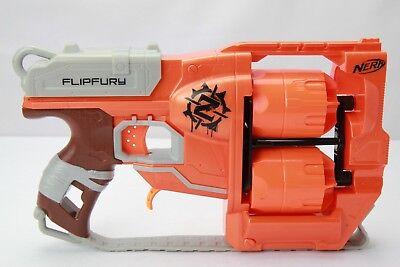 Orange Dart Gun Nerf Guns N Strike Zombie Strike Flipfury Blaster Double Barrel