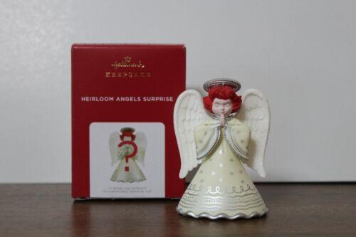 2021 Hallmark Heirloom Angels Surprise White Ornament NIB
