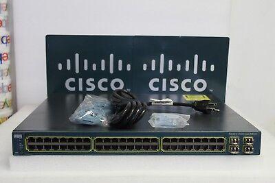 Cisco Catalyst WS-C3560G-48PS-S 48-Port Gigabit PoE Switch 15.0 4X GLC-SX-MM