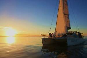Twilight Sail on a 12m catamaran on the Swan River