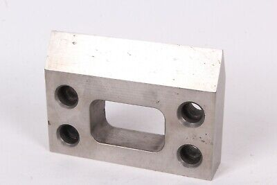 Machinist Set Up Block With Tapered Holes 60 Degrees Knife Edge - Used