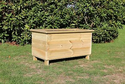 Wooden Planter, Solid Tanalised Planter, Rectangular Planter, Wooden Trough.