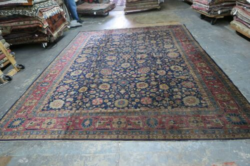 Antique India Agra Area Rug Hand Knotted Wool 9