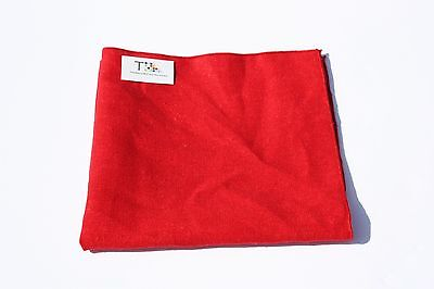 Red Linen Pocket Square with Red Trim