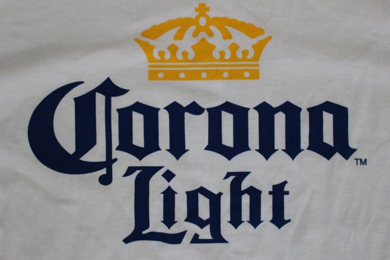 Corona Light T Shirt White, MEN