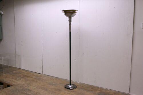 1940s Machine Age Art Deco Two-Tone Metal Floor Lamp - #2