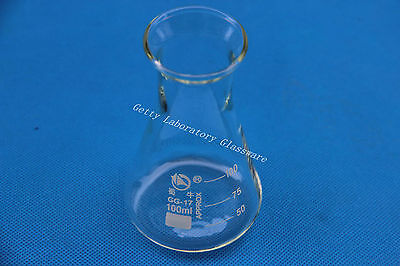 100ml Conical Flask Erlenmeyer Flask With Wide Mouth Borosilicate Glass 3.3