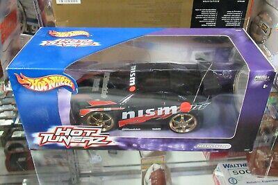 Hot Wheels Car Tunerz Nissan Gt-R R34 Skyline Drift JDM Tuner Import Black 1/24