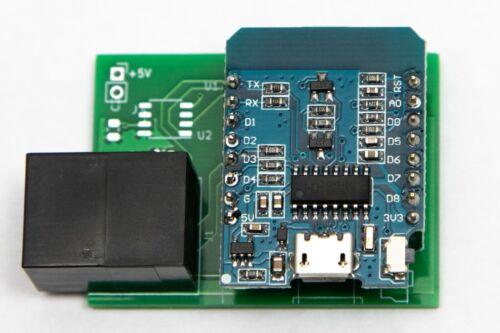Wemos D1 mini RJ45 ESP8266 breakout board