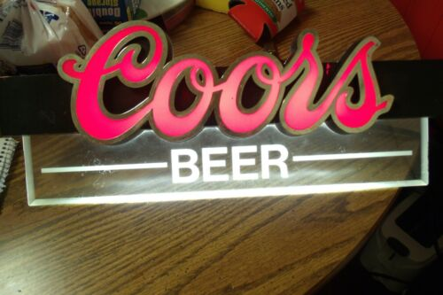VINTAGE COORS BEER LIGHTED BAR OR MAN CAVE SIGN