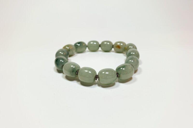 Chinese Jade Bead Stretch Bracelet