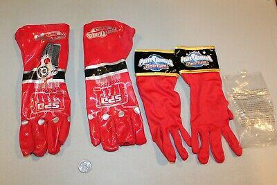 Ungebraucht Power Rangers Mystic Force Rot & SPD Electronic Kostüm Handschuhe NM