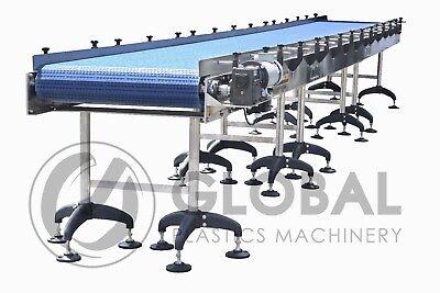 New Globaltek Stainless Steel Conveyor 25 X 32 W Plastic Interlocking Belt