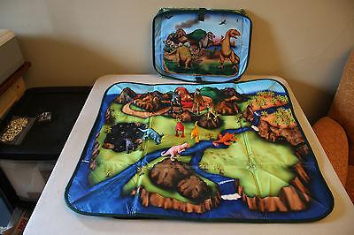 Neat-Oh Dinosaur Zip Bin Playmat Toy Storage Box w/ 9 - Dinosaur Storage Bin