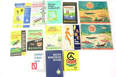 Wandern Wanderkarten (13 alte Karten & Wanderführer Wasserwandern Wanderkarten DDR 1:75000 Wandern SET)