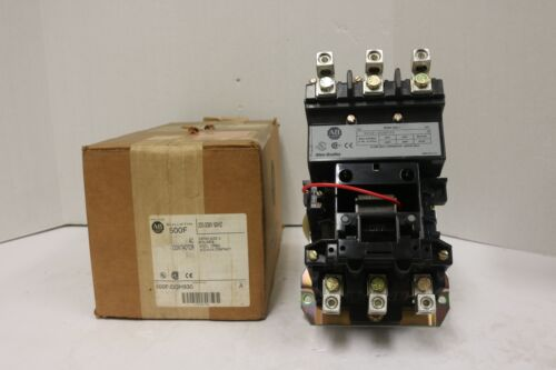 Brand New AB   500F-DOH930 (Nema Size 3, 3 Pole N.O. Aux. Contactor) In Box