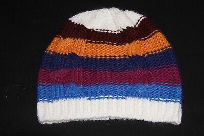 Trendy Girls Colourful Warm Soft Winter Beanie w Wide Stripes(S319) Wide Stripe Beanie