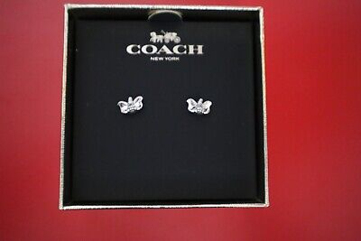 Coach Disney Dumbo the Elephant Earrings ~ Bright Blue Swarovski® Crystal Eyes