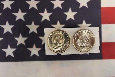 1980-S BU Susan B Anthony Dollar Roll - 20 Coins - Brilliant Uncirculated  Anthony Dollar Roll 20 Coins
