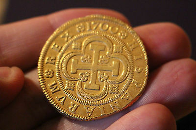Click now to see the BUY IT NOW Price! SUPER  8 ESCUDOS GOLD COB 1700 CARLOS II