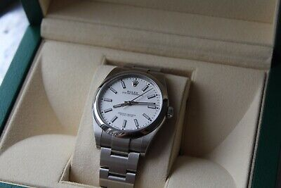Rolex Oyster Perpetual 39mm White Dial 114300