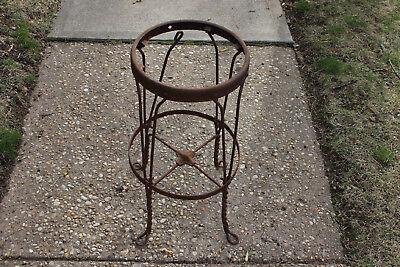 Antique Garden Stool (Antique Industrial Metal Rustic Country Barn Stool Flower Pot Garden Stand )