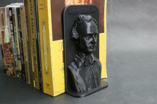 Edgar Allan Poe Famous American Poet Bookend Book Stand Book Frame FREE SHIP