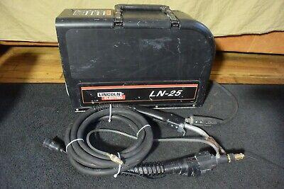 Lincoln Wire Feeder Suitcase Model Ln-25 With Welding Gun