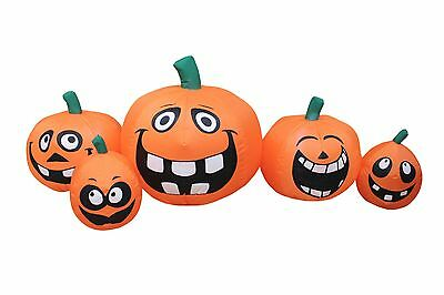 5 Foot Long Halloween Inflatable Funny Cute Face Pumpkins Patch Yard Decoration](Funny Halloween Yard Decorations)