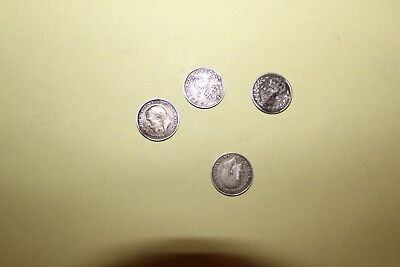4X Silver Sixpence,George V/Victoria