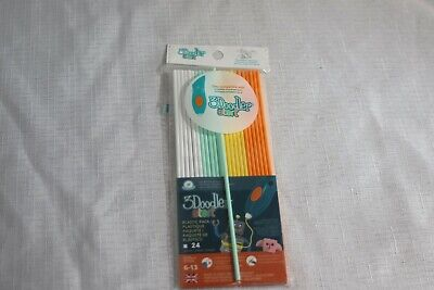 3DOODLER Start Eco-Plastic Filament Refill (24) -Assorted Colors *FREE SHIPPING*