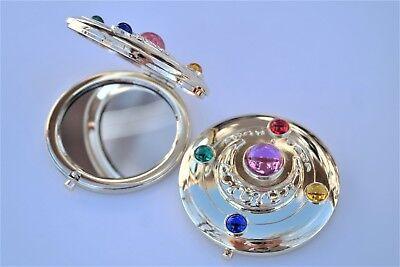 Sailor Moon Original Compact Mirror Brooch Locket Cosplay Doll Prop