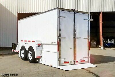 2020 Drop Deck Depot Enclosed Hydraulic Drop Deck Trailer