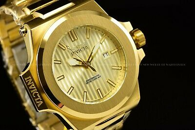 Invicta Men's 58mm Akula Prestige Automatic Triple Gold Dial Polished SS Watch